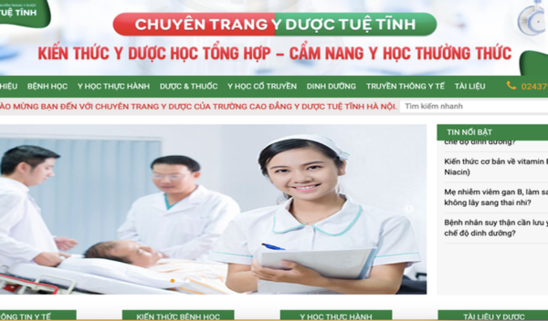 Báo Tiền phong – Cao đẳng Y Dược Tuệ Tĩnh Hà Nội ra mắt chuyên trang về y dược